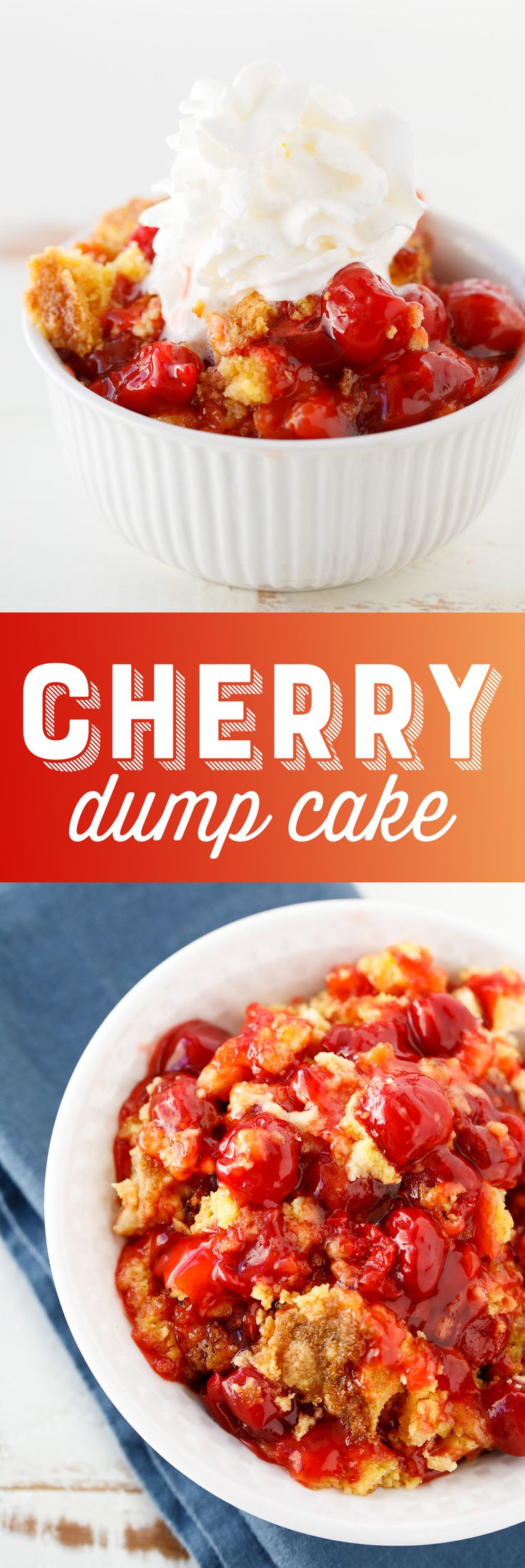 This easy cherry dump cake recipe is the perfect lazy dessert!