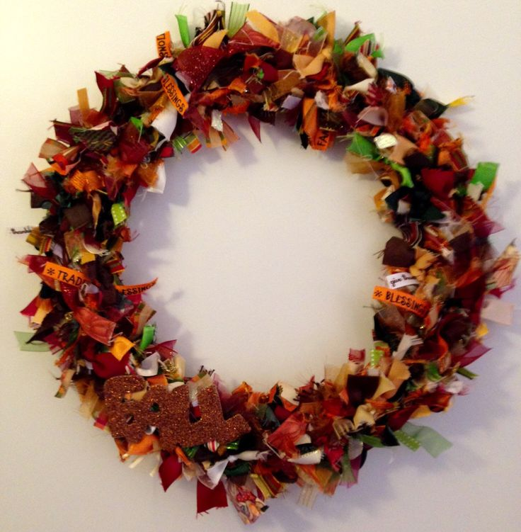 Fall Ribbon Wreath by MadeWithLove4YouByMe on Etsy https://www.etsy.com/listing/218749756/fall-ribbon-wreath