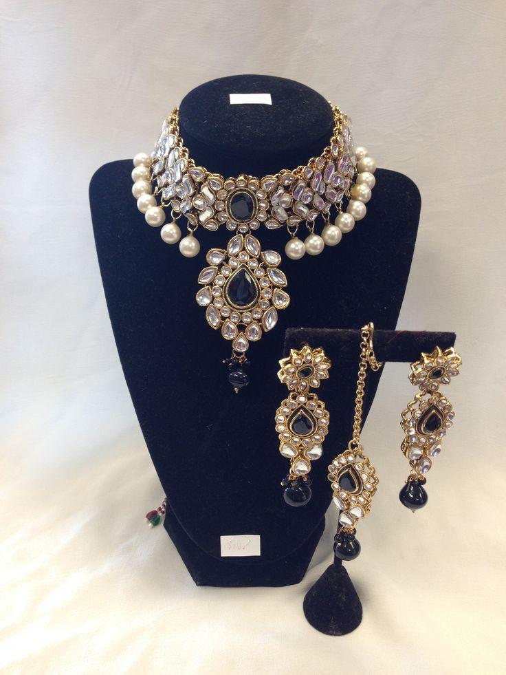 Indian Kundan Jewelry/Kundan Set - Black