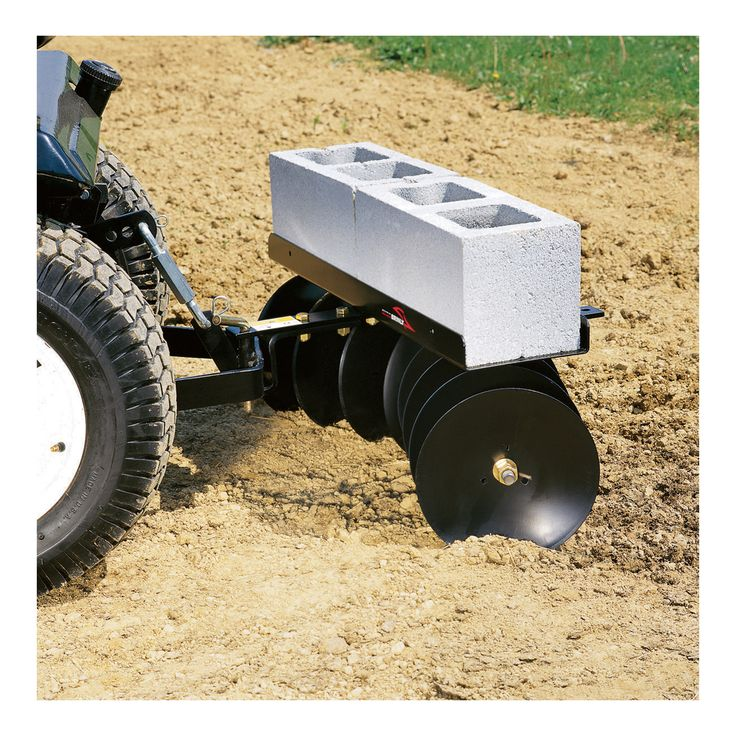 Brinly-Hardy Disk Harrow. Plows soil in to uniform, pulverized, plant-ready soil for your garden and landscaping needs.