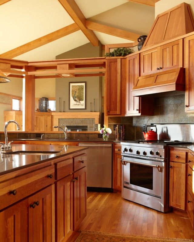 182 best remodeled kitchens images on pinterest for Arts and crafts kitchen design ideas