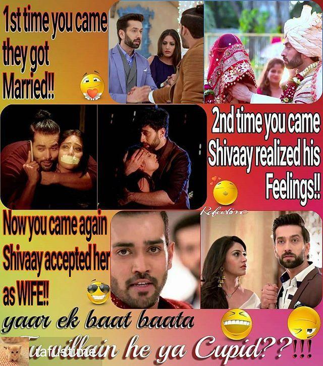This is so true... @Regrann from @rafustime - Question for you #Daksh @justkarankhanna Tum ho keya??!! #Shivika ki villain cum #Cupid #Ishqbaaaz #ishqbaaz - #regrann