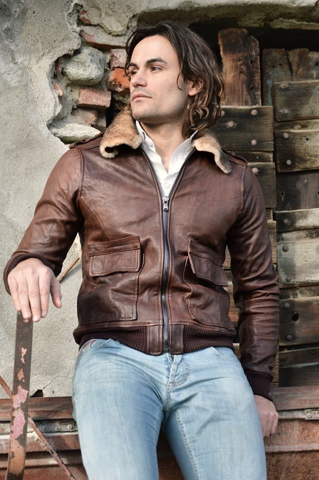 Lost In Albion Art BARIG Shearling + Leather Jacket #menswear #fashion #madeinitaly