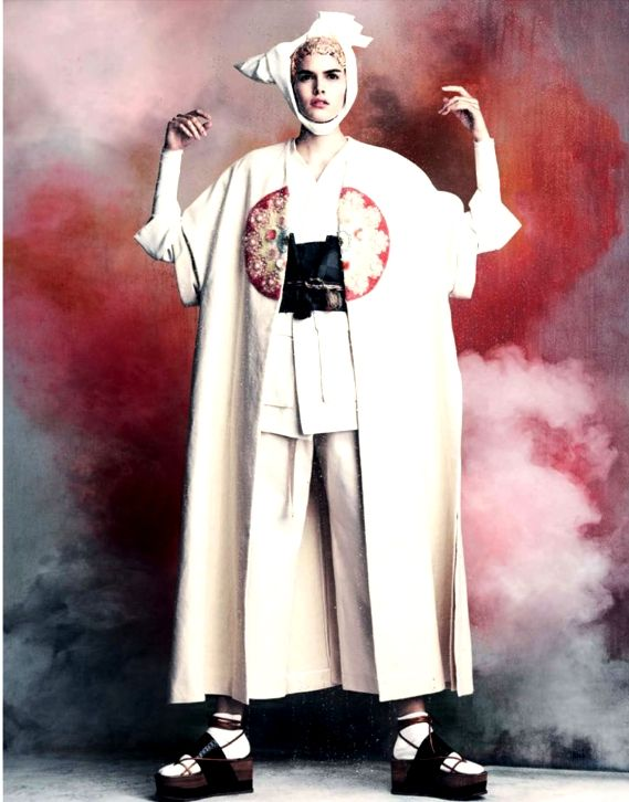 Vanessa Moody as Modern Geisha by Luigi + Iango for Vogue Germany, April 2015.