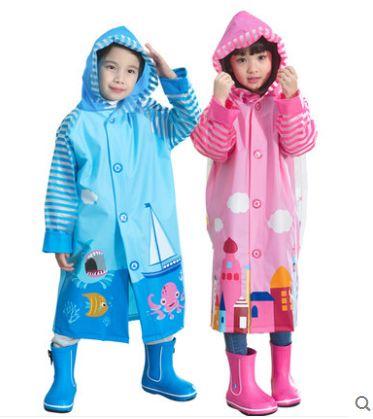 Fashion burberry_ kids Raincoat Yellow Pink Cartoon Boys Rain Jacket Baby Rainwear Children Rain Coat Waterproof Girls Clothes #Affiliate