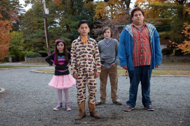 Still of Jonah Hill, Max Records, Kevin Hernandez and Landry Bender in El canguro