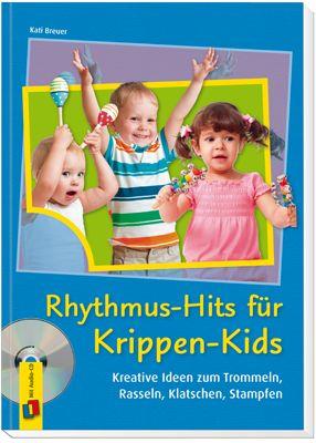 Rhythmus-Hits für Krippen-Kids – Kreative Ideen zum Trommeln, Rasseln, Klatschen, Stampfen ++ Mitmachlieder zum #Trommeln, #Klatschen oder einfach nur zum #Mitsingen sowie Vorschläge für den Einsatz von Instrumenten sorgen für den richtigen #Rhythmus und wippende Kinderbeine. Die CD mit den schönsten Rhythmus-Hits sowie #Noten und Gitarrenakkorde sorgen für einen schnellen Einsatz in der #Krippe.   #Kindergarten