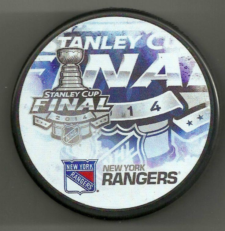 2014 NEW YORK RANGERS STANLEY CUP FINAL PUCK KREIDER LUNDQVIST RARE #NewYorkRangers