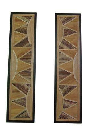 Díptico en madera con enchape de fibra vegetal  (calceta de plátano)