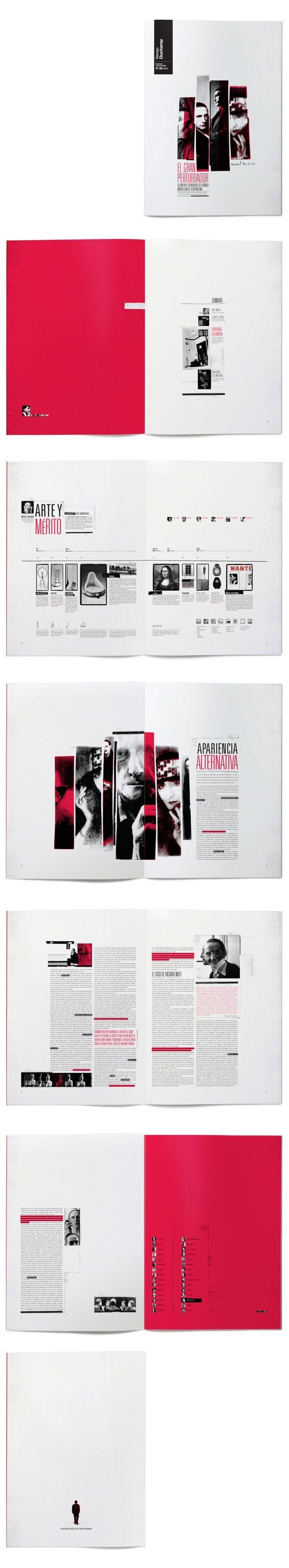 Marcel Duchamp Editorial by Francisco Andriani, via Behance