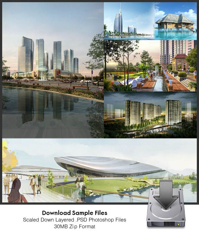 Download Architectural Perspectives Layered psd