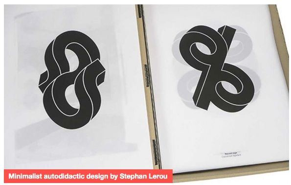 'Minimalist autodidactic design by Stephan Lerou.' Article on Creative Digest.