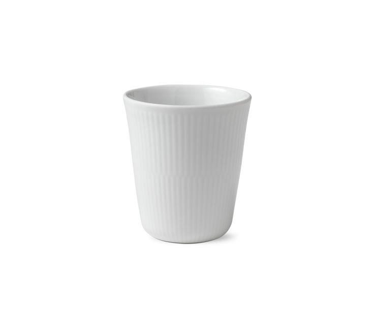 White Fluted Thermal mug