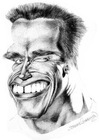 Image detail for -... Portraits - Portrait de Arnold Schwarzenegger par caricature-online