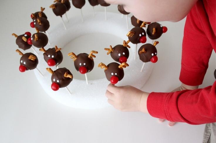 how to make reindeer cake balls