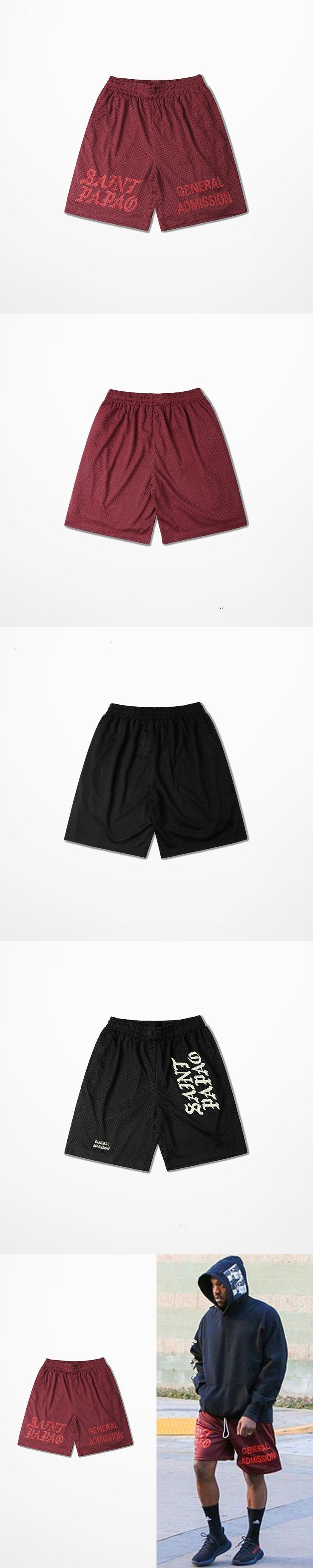 Casual Calabasas Shorts Men Kanye West Saint Pablo Seobean Short Hip Hop Drake Summer Fashion Brand Men's Short Pants
