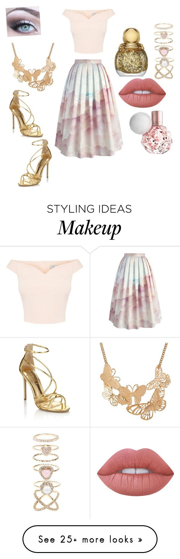 """Cuter then the cutest cutie"" by annie-travers on Polyvore featuring Chicwish, Accessorize, Lime Crime, Christian Dior and Lipsy"