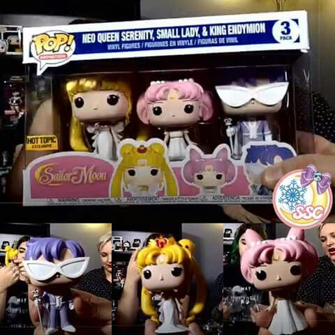 Neo Queen Serenity Princes Chibi Usa and King Endyemon( cant spell ) are coming to Hot Top this January!! #need