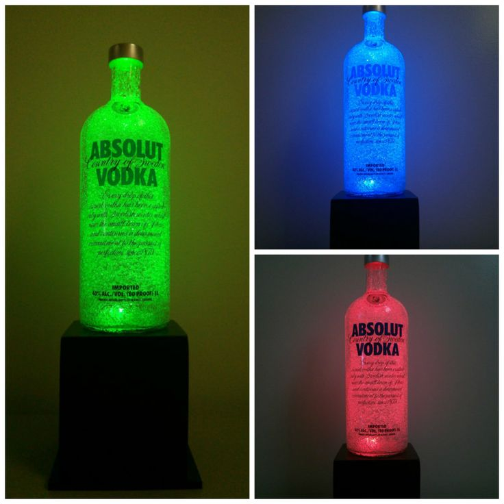 ABSOLUT Vodka recyclé couleur RGB LED par FullThrottleBottles