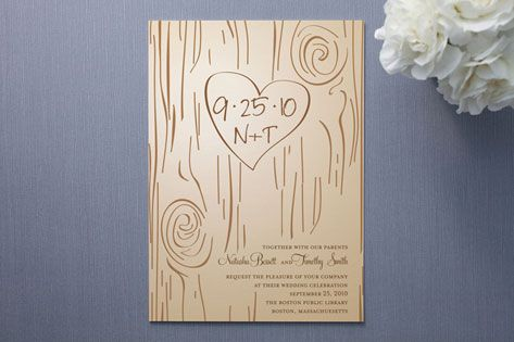 tree themed invite - we could chalk the tree & use a photo background
