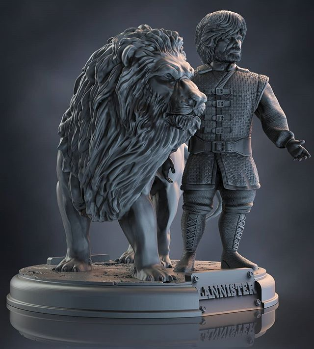 Game of Thrones for 3D Printing House Lannister Tyrion Lannister