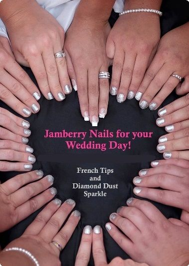 Fun wedding idea! Jamberry Nails for the bride, bridal party, flower girls and mothers! http://katepenley.jamberrynails.com