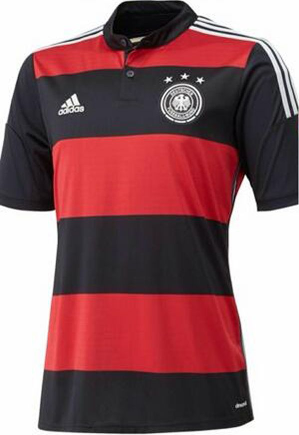 Is a shirt germany football selection, is black and red, has buttons, has the adidas logo and the selection of Germany, the cost is £76.21.