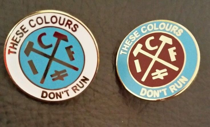 2 New English West Ham United fc fans/Casuals football shirt Badge England ICF