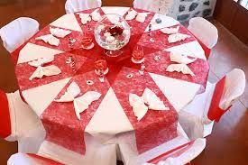 Mariage rouge et blanc th me recherche google d coration mariage pinter - Deco table enfant mariage ...