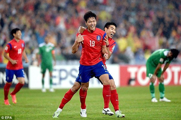 Kim Young-Gwon (19) fired home the second to seal South Korea's place in the Asian Cup final
