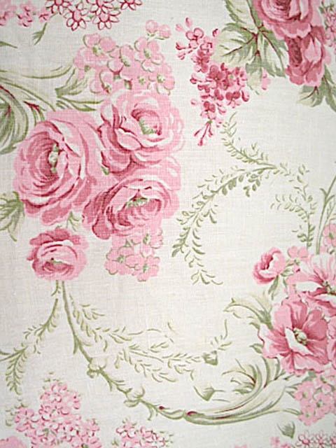 ❥ love old rose print fabrics and wallpapers
