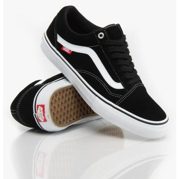 Vans Old Skool '92 Pro Skate Shoes Black/White/Red ($84) ❤ liked on Polyvore