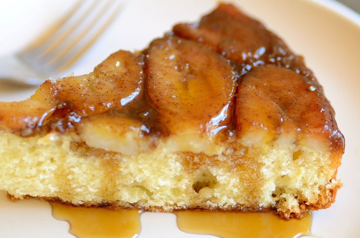 Banana Upside Down Cake, my mom makes it with peach and it's really good. This one must be great! **