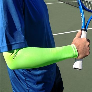 Tennis Arm Compression Sleeve | iM Sports Check out our new quantity discounts! ~ The more you buy, the MORE you SAVE ~ Up to 20% Off!  #neongreenfullarmsleeve #tennis #comfortable #compression #sunprotection #lookgoodwhileyouplay http://www.imsportsteam.com/tennis-arm-sun-sleeves-s/1849.htm