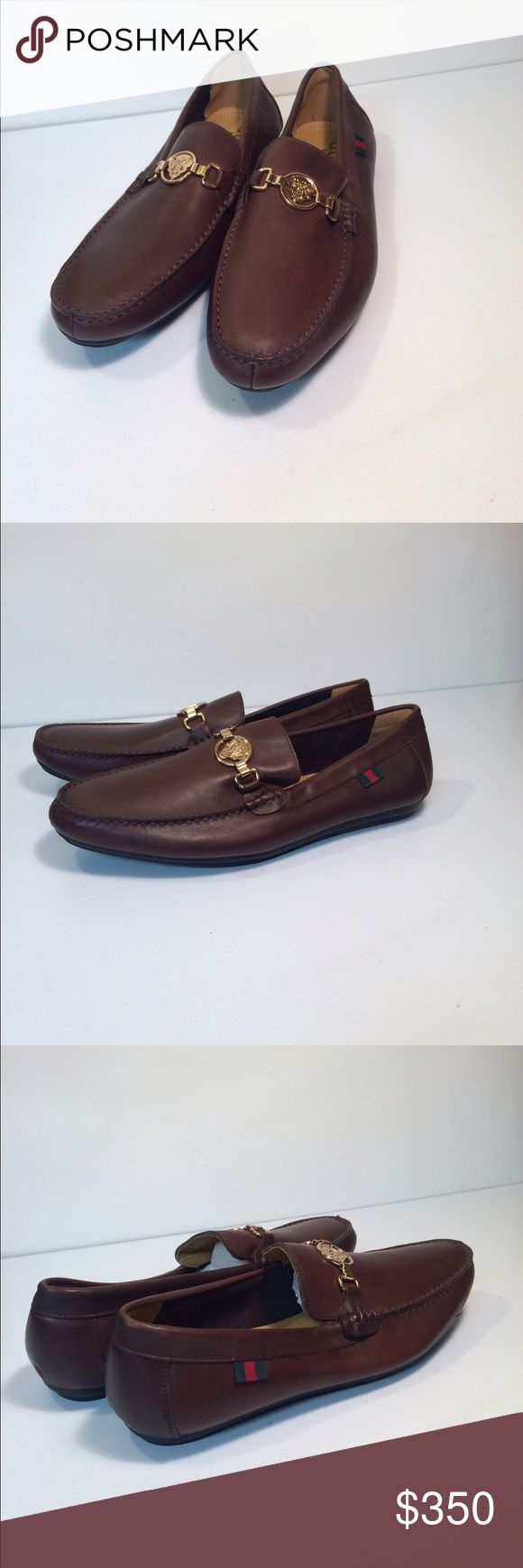 Gucci Men's Slip On Loafers Moccasins Shoes Gucci Men's Slip On Loafers Moccasins Shoes ... Size: EU 47 / US 13 ... Color: Brown ... Material: Leather ... Condition: New Without Box / Tags. Gucci Shoes Loafers & Slip-Ons