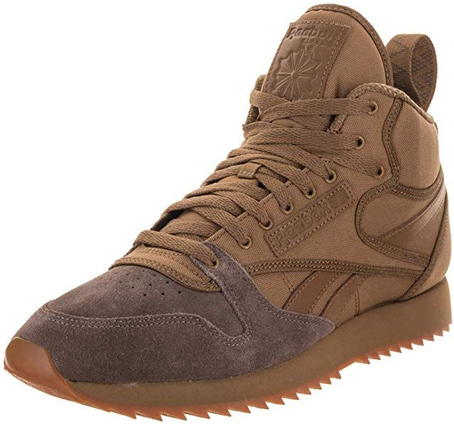 c244c8b5a3c98 Amazon.com | Reebok Men's Classic Leather Mid Ripple TB Thatch/Trek ...