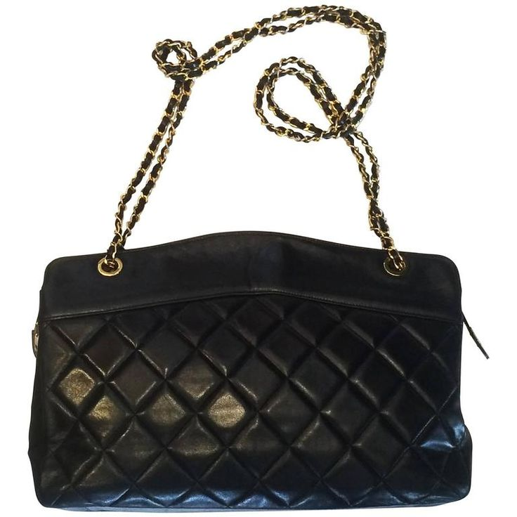 Handbag Chanel Jumbo XL Shopper. Black Matelasse 1990