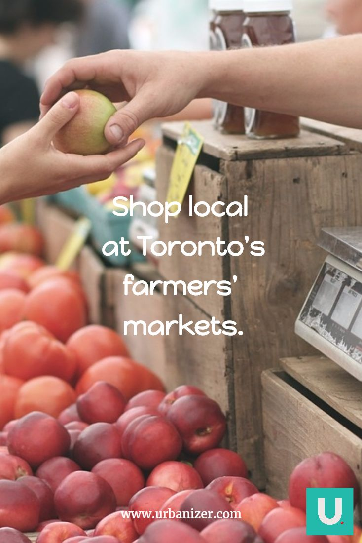 Shop local at Toronto's farmers' markets. The ultimate guide to Toronto Markets: Metro Hall Farmers' Market, MyMarket Bloor, and Borden, AppleTree in Ryerson, St. Lawrence Market Farmers' Market