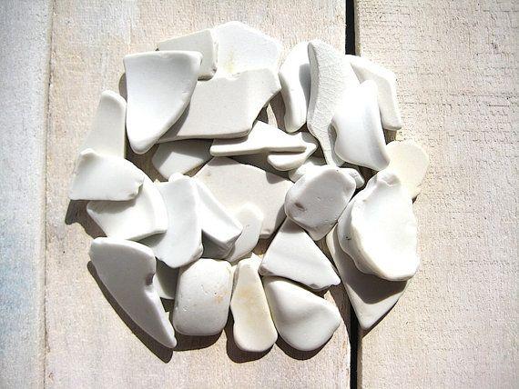 Sea Pottery // 30 pcs Ceramic Small // Beach by CreteDriftwood