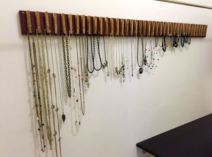 Clothespin+Jewelry+Hanger