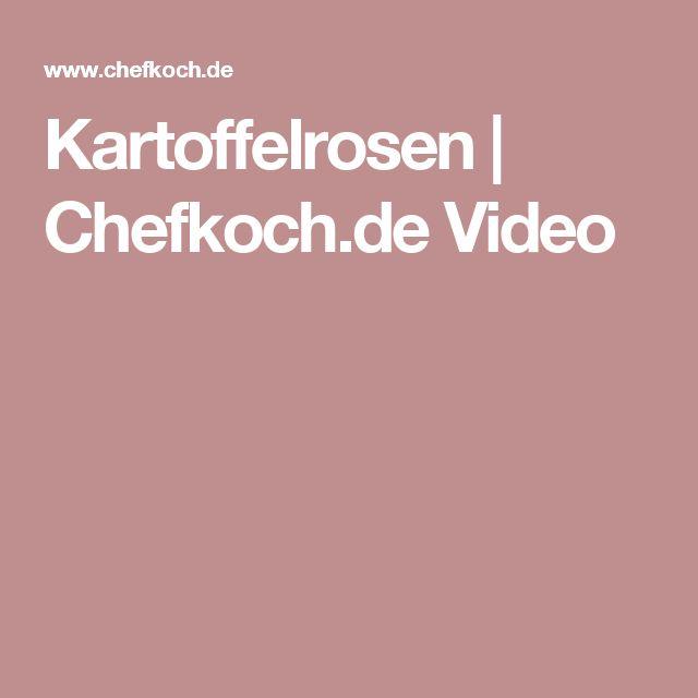 Kartoffelrosen | Chefkoch.de Video