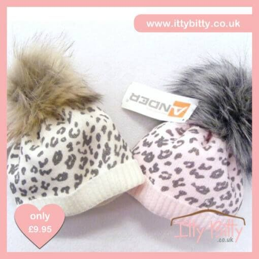 NEW STOCK ADDED - Itty Bitty Pink Leopard Print Fleece Lined Fur Pom Pom Beanie Hat  VIEW HERE:https://www.ittybitty.co.uk/product/itty-bitty-pink-leopard-print-fleece-lined-fur-pom-pom-beanie-hat-winter/
