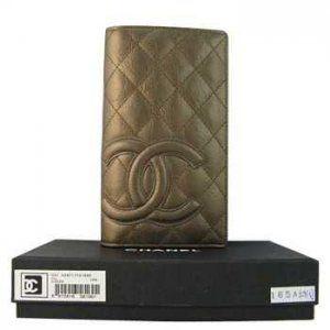 Chanel or Double grand portefeuille Soldes Pas Cher CCS168,chanel pas cher  €76.00