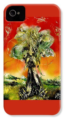 The Sentinel IPhone 4 / 4s Case Printed with Fine Art spray painting image The Sentinel by Nandor Molnar (When you visit the Shop, change the orientation, background color and image size as you wish)
