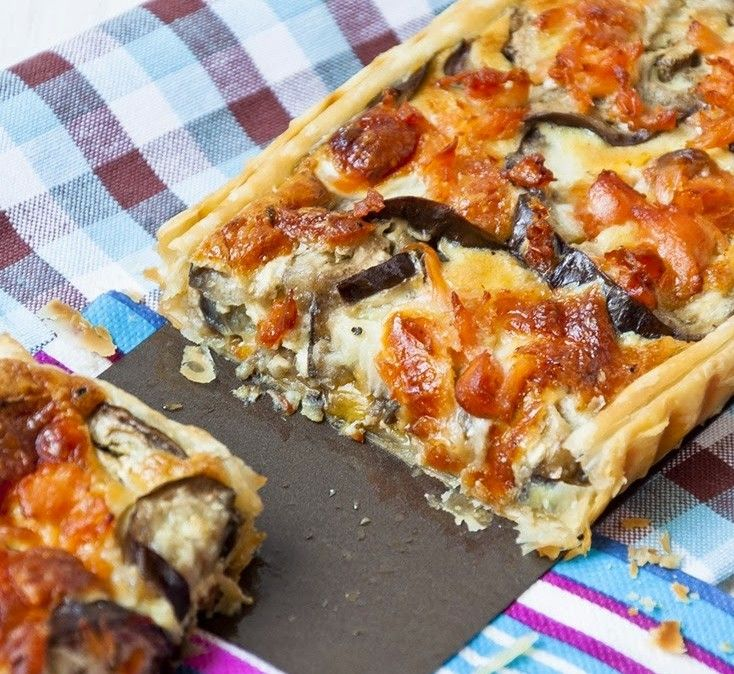 Tartaleta de hojaldre rellena de Berenjenas| lacocinadefrabisa