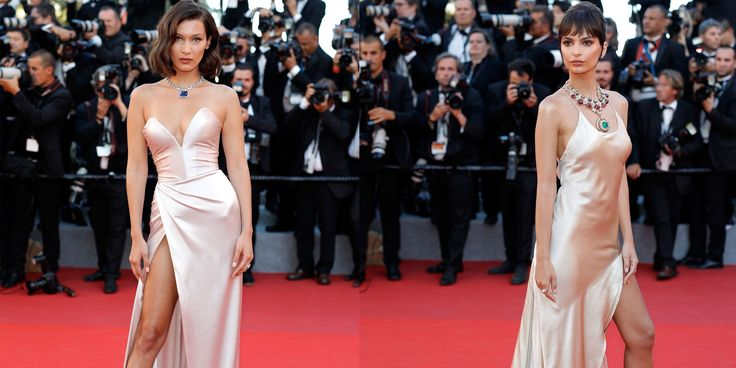 Bella Hadid and Emily Ratajkowksi Wear the Same Cannes Dress - HarpersBAZAAR.com