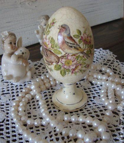 """Яйца ручной работы. Ярмарка Мастеров - ручная работа пасхальное яйцо """"птичьи трели"""". Handmade."""