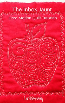 Free Motion Quilt Apple