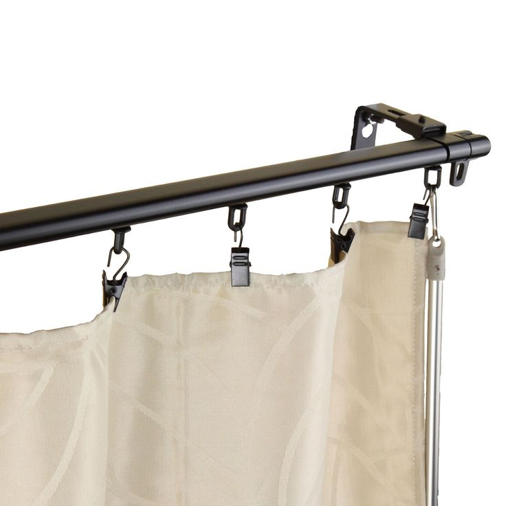 Regal Black Adjustable Curtain Track Set | Overstock™ Shopping - Great Deals on Curtain Hardware