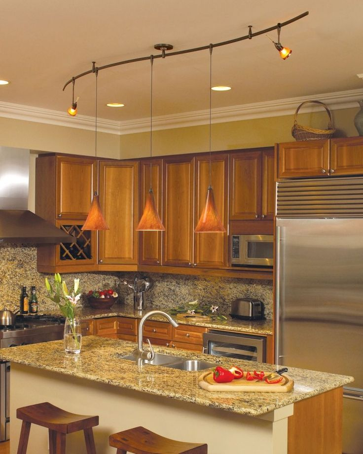 Elegant Kitchen Island Track Lighting Track Lighting For Kitchen ...